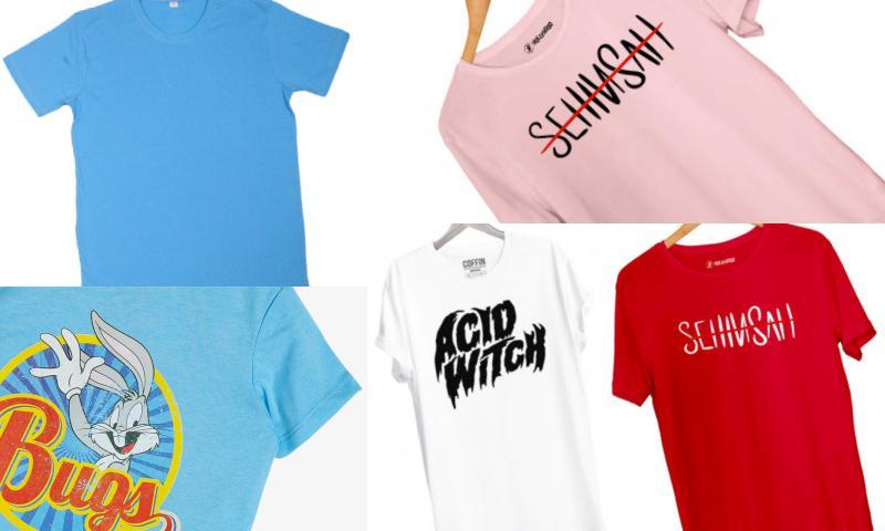 T-Shirtlerde Özgün Desenler Bulabilirsiniz
